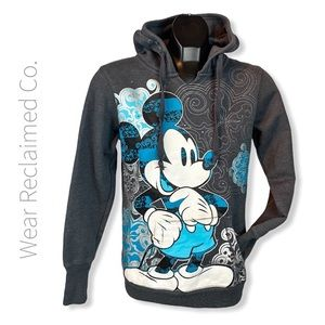 AUTHENTIC DISNEY PARKS Charcoal Puffy Print Hoodie